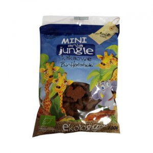 Mini ania jungle BIO herbatniki z kakao 100g Ania