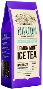 Herbata czarna lemon mint ice tea 50g natjun