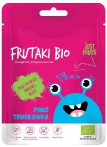 Żelki Frutaki BIO Pani Truskawka 50g Just Fruits